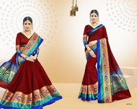 Cotton Wived Plain Saree