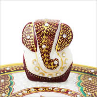Lord Ganesha Decorative Marble Statue