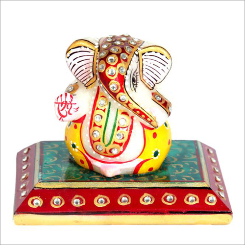 Decorative White Marble Ganesha Statue