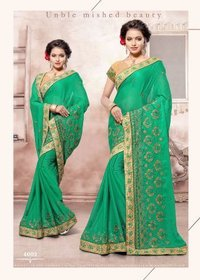 Green Border Designed Saree