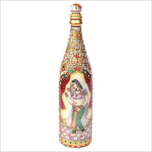 Handicraft Lady Design Marble Bottle