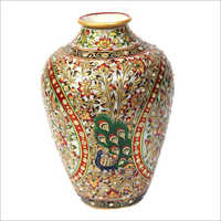 Decorative Studded Marble Vase
