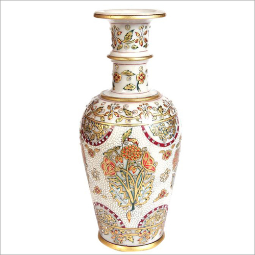 Decorative Marble Long Neck Vase