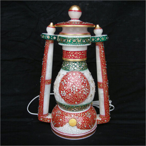 Handcrafted White Marble Electric Lantern