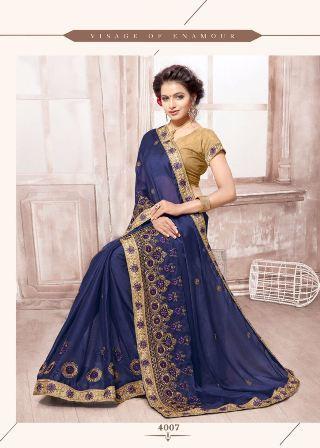 Black Wedding Wear Saree
