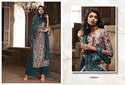Long Sleeves Printed Salwar Suits