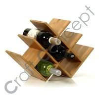 WOODEN PYRAMID WINE RACK
