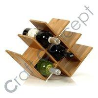Wooden Pyramid Wine Rack