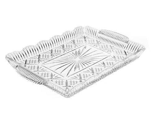 Crystal Rectangular Elegant Serving Tray