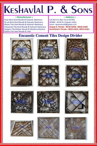 Encaustic Cement Tiles Moulds