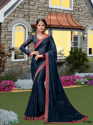 Black Wedding Wear Saree