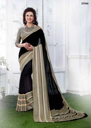 Black Shaded Daily Wear Saree
