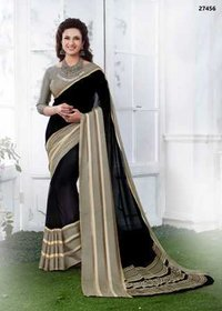 Black Shaded Daily Wear Saree