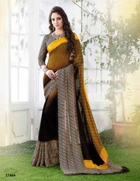 Three Coloured Shaded Designer Saree