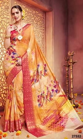 Wedding Wear Colouring Printed Saree