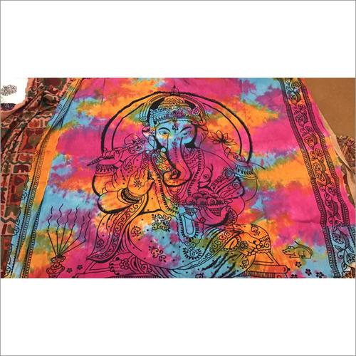 Hand Painted Ganesha Bedsheet