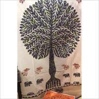 Handmade Tree Printed Bedsheet