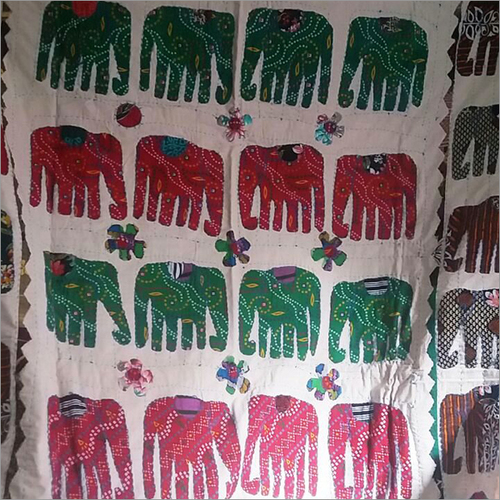 Hand Painted Elephant Cloth Fabric