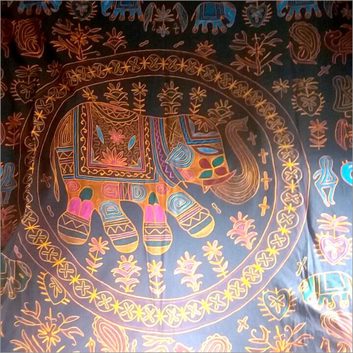 Hand Painted Elephant Cloth Tapestry