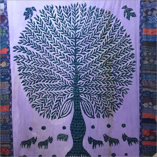 Hand Painted Tree Tapestry