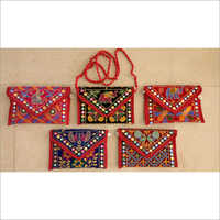 Handmade Animal Embroidery Sling Bag