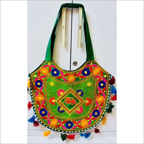 Handmade Multicolored Threaded Shoulder Bag