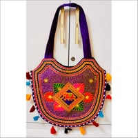 Handmade Embroidered Tassels Shoulder Bag