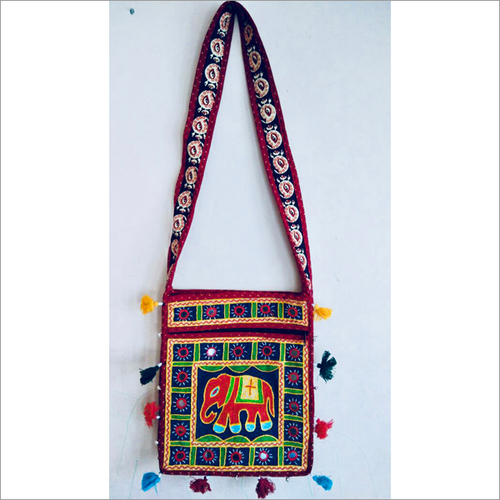 Indian Handmade Embroidered Sling Bag