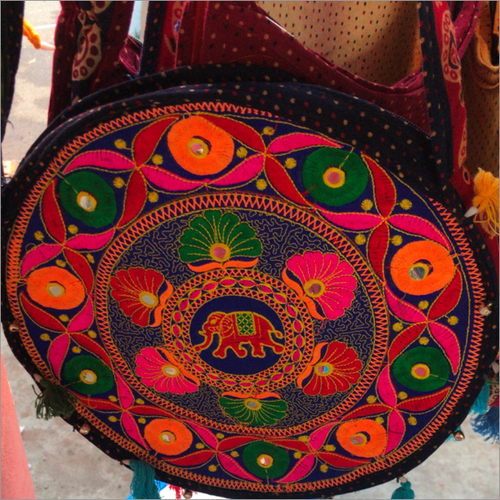 Handcrafted Multicolored Threaded Shoulder Bag