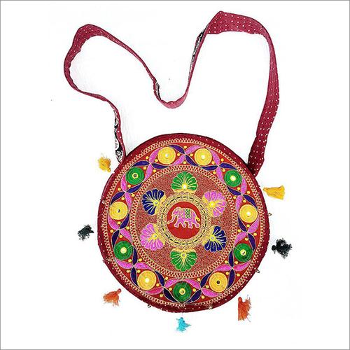 Handmade Embroidery Round Banjara Bag