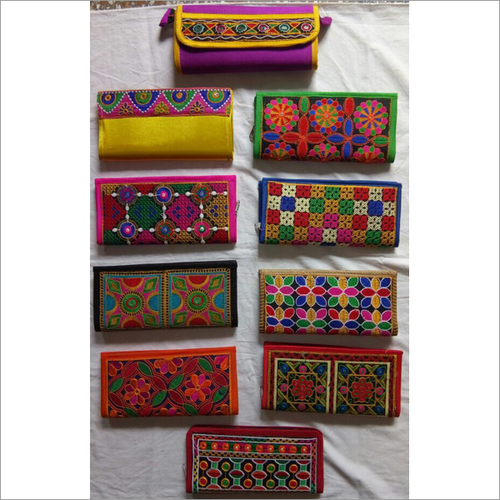 Handcrafted Multicolored Embroidered Clutch Purse