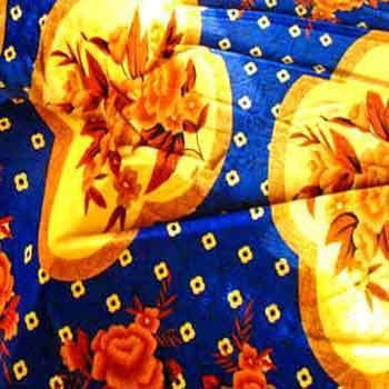 Velvet Bed Cover Fabric