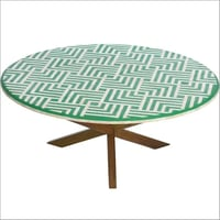 Wooden Legs & Round Center Coffee Table