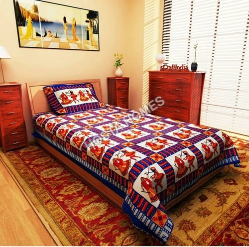 Abstract Design single Bed Bedsheet