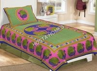 Peacock Print Single Bed bedsheet