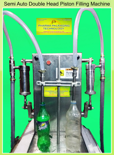 Semi-Auto Double Head Piston Filling Machine