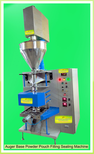 Auger Base Powder Pouch Filling Sealing Machine
