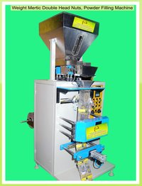 Weight Metric Double Head Nuts Powder Filling Sealing & Cutting Machine