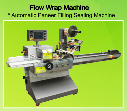 Flow Wrap Machine  Automatic Paneer Pouch Filling & Sealing Machine