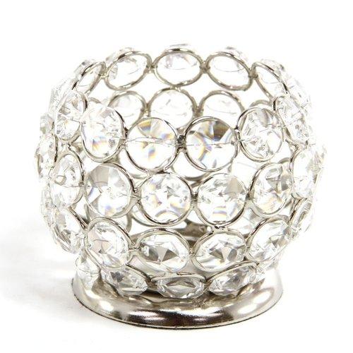 Beautiful Crystal Tealight Holder - Small Globe