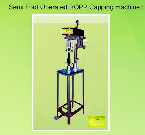 Semi Foot Operated Ropp Capping Machine