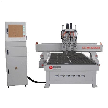 Three Workstages ATC CNC Router With Pneumatic Cylinder