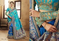 Embroidery Work Handloom Silk Sarees