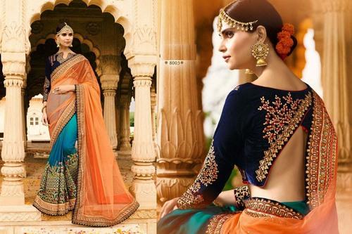 Wedding Wear Velvet Saree