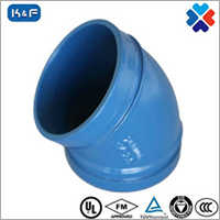 Ductile Iron Grooved Pipe 45 Degree Elbow
