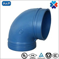 Ductile Iron Grooved Pipe 90 Degree Elbow