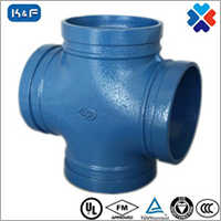 Ductile Iron Grooved Pipe Cross Joint