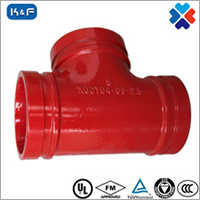 Ductile Iron Grooved Grooved Reducing Tee
