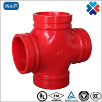 Ductile Iron Grooved Pipe Reducing Cross Joint