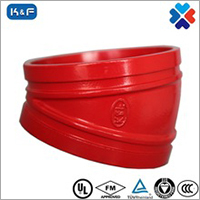 Ductile Iron Grooved Pipe 22.5 Degree Elbow